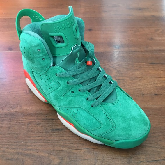 "d9ec3cd9ee729 Air Jordan 6 ""Gatorade"" green suede sneakers - DOT Made"