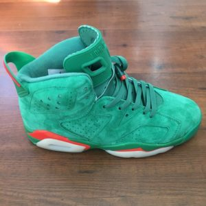 "Air Jordan 6 ""Gatorade"" green suede"