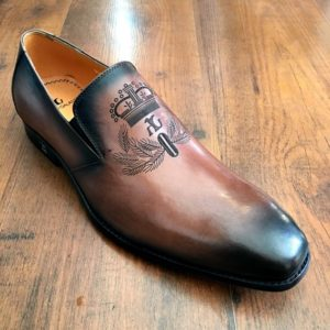 Angelo Galasso Two Tone Brown slip-on