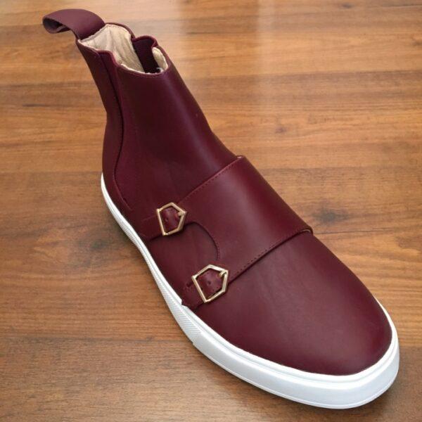 Louis Vuitton Maroon Half Boot sneakers