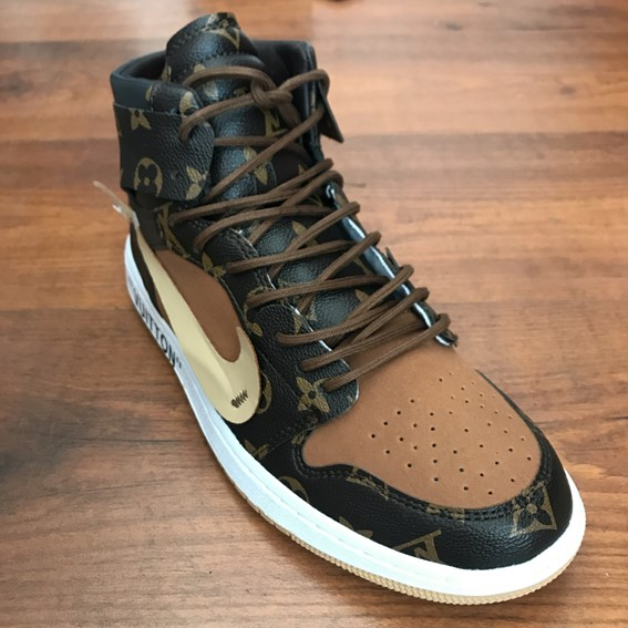 829331980c7 Louis Vuitton OFF-WHITE Nike Air Jordan 1 sneakers