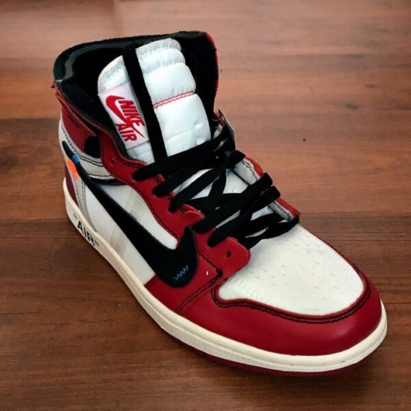 timeless design e4580 1029c Nike Air Jordan 01 Red White Off-white edition sneakers